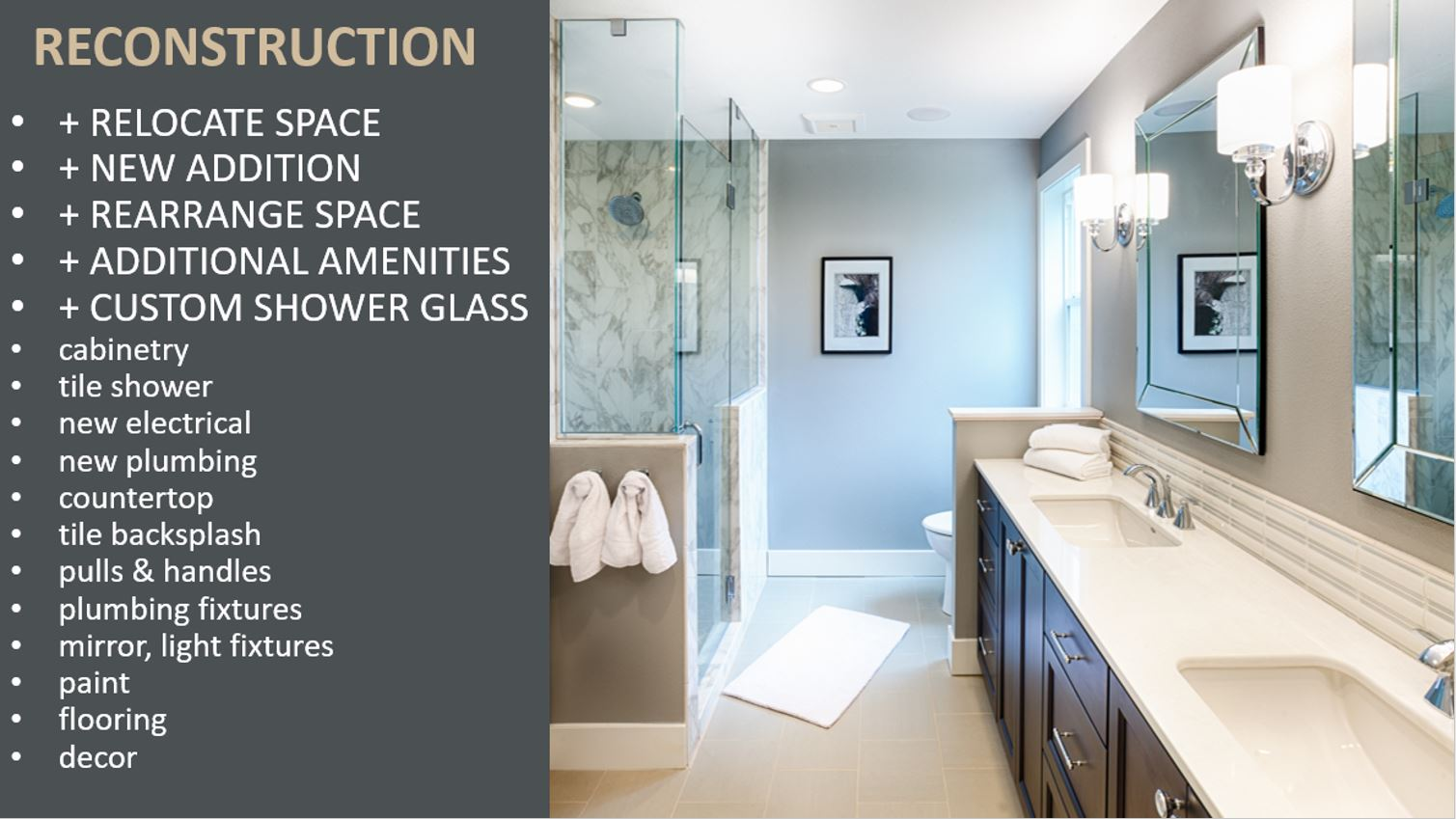 Custom Bathroom Remodel Specs